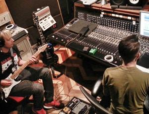 """Baby Eater"" Album production with Engineer Matt VanAllen at Big Fish Recording Studio in Encinitas, CA.  Photo by Craig Chaddock."