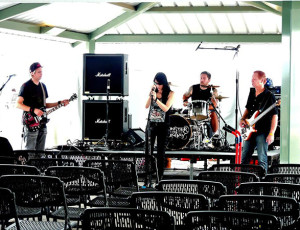 Soundcheck at the Godless Gala in San Diego, CA.  Photo by Traci Smith.