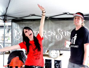Tally Cass, Steve Cass at the Monster On Sunday booth for the Godless Gala in San Diego, CA.  Photo by Traci Smith.