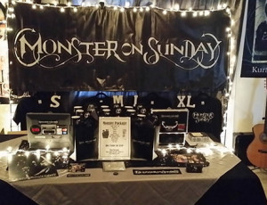 Merch Booth 2015 by Tally Cass