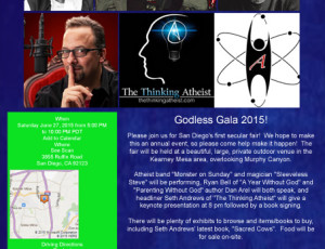 Godless Gala Show at See Scan in San Diego, CA