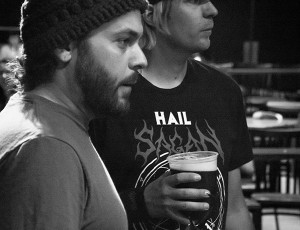 Paul Hentschl (Lights Tech) and Steve Cass at the Album Release Show in Ramona, CA.  Photo by Craig Chaddock.