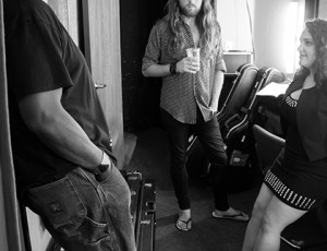 Steve Hill, Andrew Robertson, Shelly Segal backstage in the green room at the Album Release Show in Ramona, CA.  Photo by Craig Chaddock.