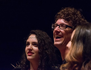 Shelly Segal and Richard Carrier at the Album Release Show Performance at the Ramona Mainstage in Ramona, CA.  Photo by Craig Chaddock.