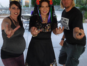 Tally Cass, Margaret Downey, Steve Cass at the Secular Day of the Dead at See Scan in San Diego, CA.