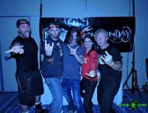 Cabelo Freitas, Steve Cass, Noah Lugeons, Tally Cass and Lee Smith at the Reason Rally After Party in Arlington, VA. Photo by Traci Smith.