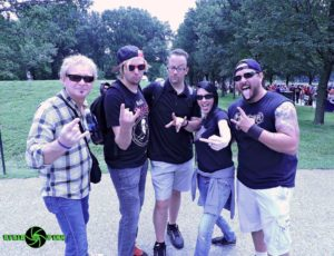 Lee Smith, Steve Cass, Seth Andrews, Tally Cass and Cabelo Freitas at Reason Rally 2016 in Washington DC.  Photo by Traci Smith.
